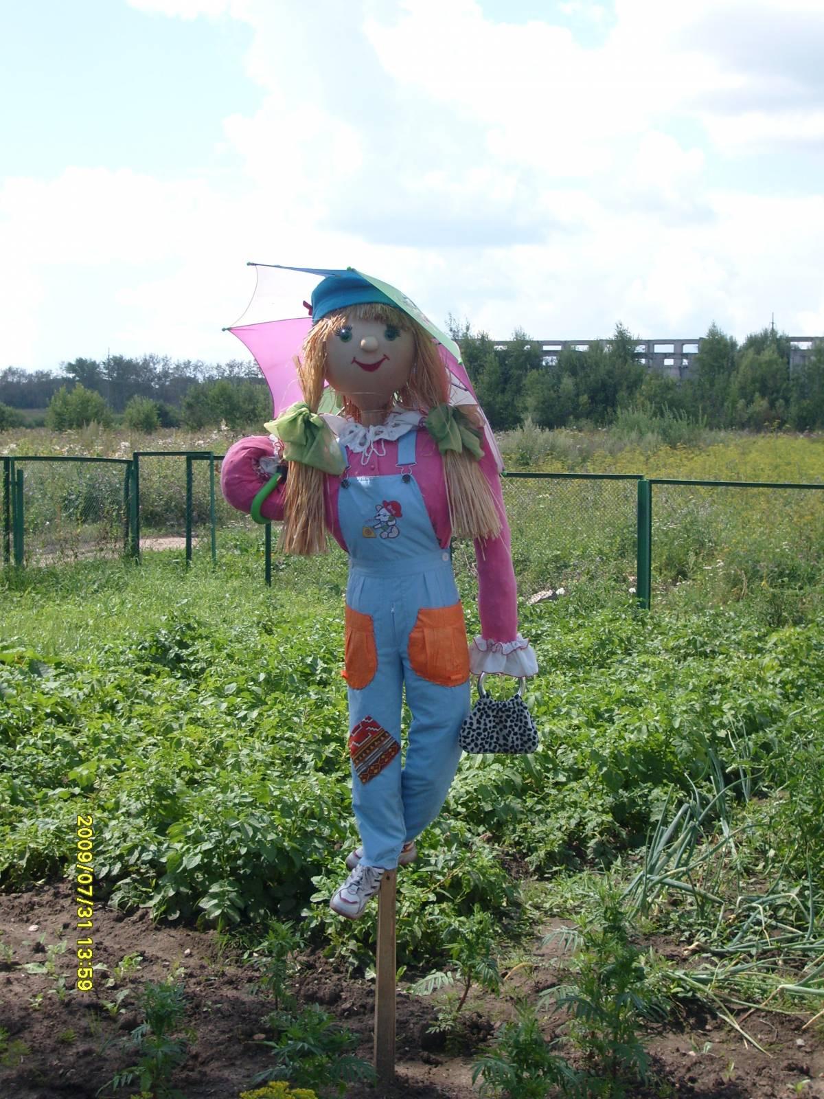 Фото как сделать чучело в огород своими руками